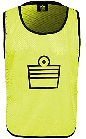 Admiral Branded Soccer Training Vest, Yellow, Adult