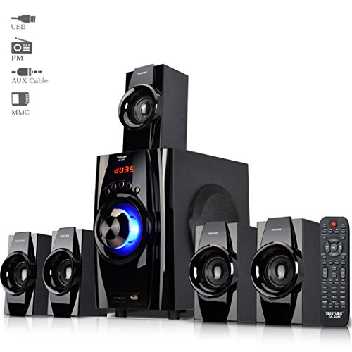 Truvison SE-5045 5.1 Multimedia Speaker System USB FM MMC Playback Support Feature Superior Sound Clarity  available at amazon for Rs.4499
