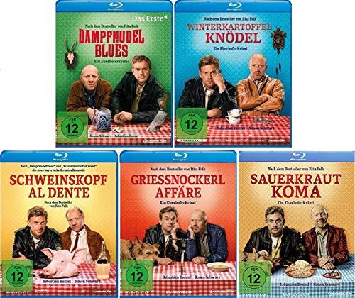 Eberhofer - 5 Blu-Ray Set (Dampfnudelblues + Winterkartoffelknödel + Schweinskopf al dente + Grießnockerlaffäre + Sauerkrautkom
