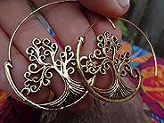 ✿ CREPE GOLDEN SPIRAL TREE ✿ Orecchini splendidamente decorati
