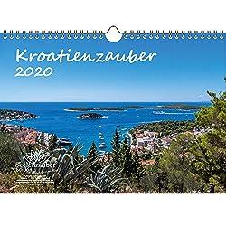 Kroatienzauber DIN A4 Kalender 2020 Kroatien Geschenk-Set: Zusätzlich 1 Grußkarte und 1 Weihnachtskarte - Seelenzauber