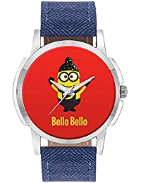 Wrist Watch For Men - Bello Bello Despicable Me Inspired Minion Singh(Red) - Analog Men's And Boy's Unique Quartz...