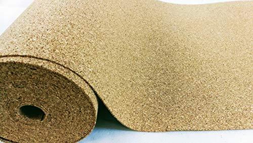 Rollo corcho 4mm de grosor, 5qm (5x 1m)/acústico (/bajo flotante saque de parqué, laminado de, y moqueta/wärmedämmende pared Murales/Aumenta el gehkomfort