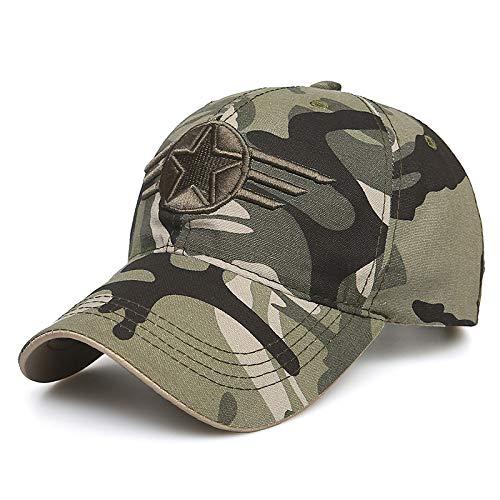 zhuzhuwen Hut Männer Outdoor-Camouflage-Hut Fünf-Sterne-Hut Baseballmütze Sommer Wilde Kappe weibliche Jugend Sonnenhut 4 56-62cm