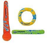 Schildkröt Funsports Schildkröt Neoprene (3-Teilig, Je 1 Ring, Stick, Ball), 970217 Diving Set, Mehrfarbig, M