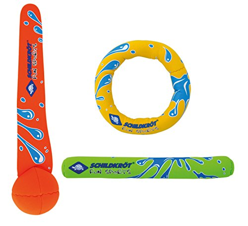 Schildkröt Funsports Schildkröt Neoprene Diving Set (3-teilig, je 1 Ring, Stick, Ball), 970217, Mehrfarbig, M