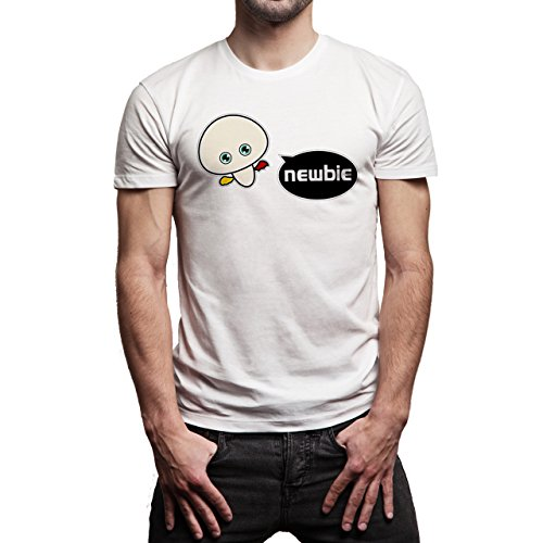 YOLO Newbie Little Bird Background Herren T-Shirt Weiß