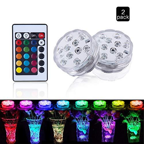 (Unterwasser Licht, Aodoor Multi Wasserdichte LED Leuchten für Hochzeit/Party/Weihnachten/Schwimmbad/Fish Tank Dekorationen, Dekoration unterwasserlicht mit fernbedienung)