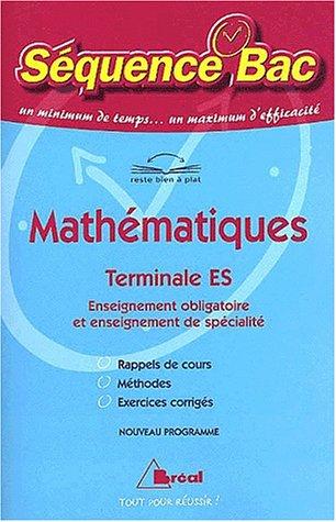 Mathématiques, Terminale ES par Collectif