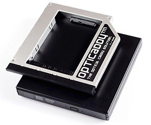 Opticaddy® SATA-3 HDD/SSD Caddy Adapterset mit Externe USB-Gehäuse für optisches Laufwerk für HP Compaq 6530b, 6535b, 6730b, 6730s, 6735b, 6735s, HP EliteBook 6930p, 8440p, 8530p, 8540p, 8440w, 8530w, 8540w, 8730w, 8740w, HP ProBook 6440b, 6445b, 6450b, 6455b, 6550b, 6555b mit Opticaddy OptiSpeed Technology (original Opticaddy Festplattenrahmen Kit, Einbaurahmen Set)