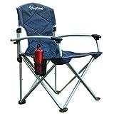 King Camp-Silla de Camping Deluxe con Estructura de Aluminio, diseño de Rayas, Color Gris, l, KC3808