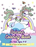 Unicorn Coloring Book For Kids Ages 4-8: Lots of Magical Cute Little Unicorns