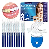 Kit Sbiancamento Denti,Gel Sbiancante Denti,Kit di sbiancamento dentale,Teeth Whitening Kit-10x3ML Gel Sbiancante,1xLuce LED,2xVassoio Dentale,1xCarta Colore