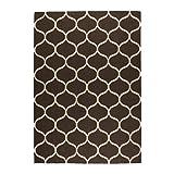 Ikea Stockholm Teppich in braun; Netzmuster; flach gewebt; Handarbeit; (170x240cm)