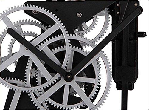 Horloge murale - Horloge pendule silencieuse extérieur mécanique en métal Horloge murale haut de gamme unique