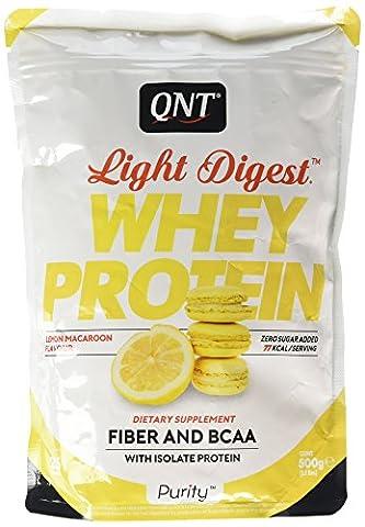 QNT Light Digest Whey Protein Supplement, 500 g, Lemon Macaron