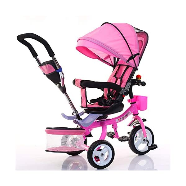 Haojiechunxiang Children's Tricycle Bicycle Baby Baby Stroller Child Car Bicycle Seat,B  ●Delivery Time 10-20 days. Please contact us if you cannot receive the order after 30 days.Return range 30 days ●Double brakes on the rear wheels, stop the brakes when parking to prevent the car from rolling ●A multi-purpose car, suitable for babies of different ages, according to the baby's different age stages, can be disassembled corresponding configuration 1