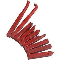 Juego de 9 herramientas de corte CNBTR, modelo YG8, 10mm, color rojo, hechas de aleación de carburo. Piezas para insertar en herramienta de corte giratoria