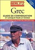 GREC. : Guide de conversation et lexique pour le voyage