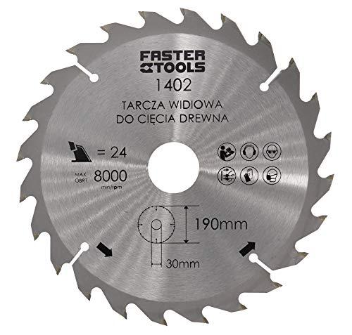 Kreissägeblatt 190mm x 30mm x 1,9mm mit 24 Zähne für Holz in Profi-Ausführung für Handkreissäge Tischkreissäge Gehrungssäge Nagelfest uvm.