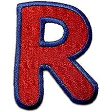 Parche Termoadhesivos Alfabeto/Letra roja, Alphabet/Buchstabe:Buchstabe R - 6.2x4