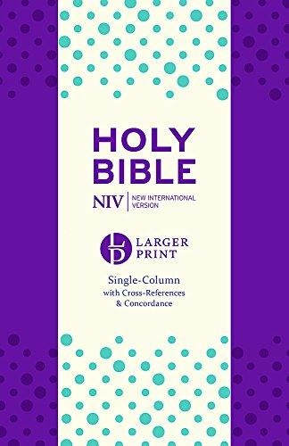 NIV Larger Print Compact Single Column Reference Bible: Purple Soft-tone