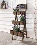 """Pflanzregal """"Lavendel"""" aus Holz mit 9 Pflanzkästen und Tafel"""