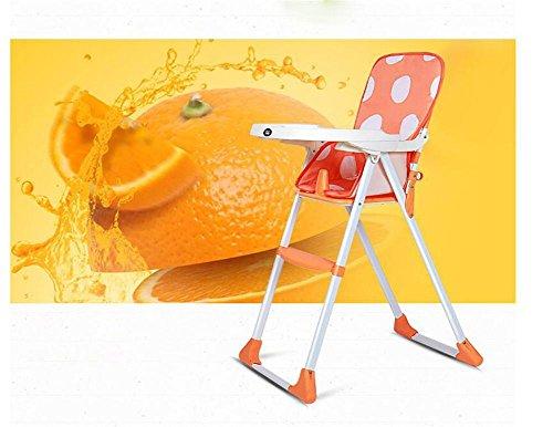HJXJXJX Optional zwei Farbe Multifunktions faltbaren Portable Baby Hochstuhl , orange