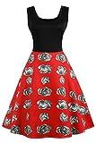 Axoe 50er Jahre Freizeitkleid Vintage Damen kleider Knielang Blumendruck Gr 48
