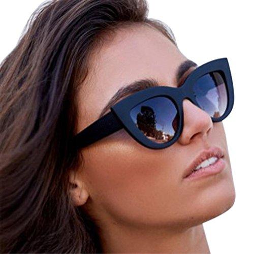 FORH Frauen Vintage Cat Eye Sonnenbrille Damen Retro Mode Brillen Verspiegelt Horn Gestell...