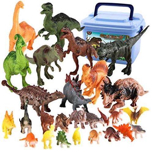 iVansa Jouet Dinosaure Plastique, 44 Pièces Dinosaure Modèle Jouet Simulation Animal Modèle, Dinosaure Figurine Cadeau Parfait Educatif Jouets pour Vos  s   Aspect élégant