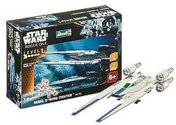 Revell Modellbausatz Star Wars Rebel U-Wing Fighter im Maßstab 1:100, Level 1, originalgetreue Nachbildung mit vielen Details, Build & Play mit Light&Sound, zum Bauen & Spielen, 06755