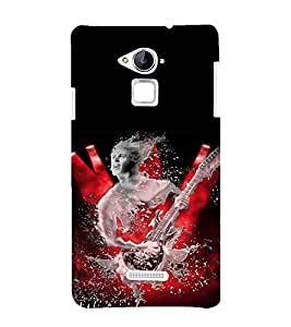 Man with Guitar Back Case Cover for Coolpad Note 3 Lite