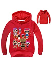 Socluer Felpa con cappuccio L.O.L Surprise 3D Magliette per Ragazze Dolls  Cartoon Game Girl s 3af3067fd3d