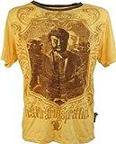 Guru-Shop Weed T-Shirt Buddha, Herren, Baumwolle, Sure` T-Shirts Alternative Bekleidung