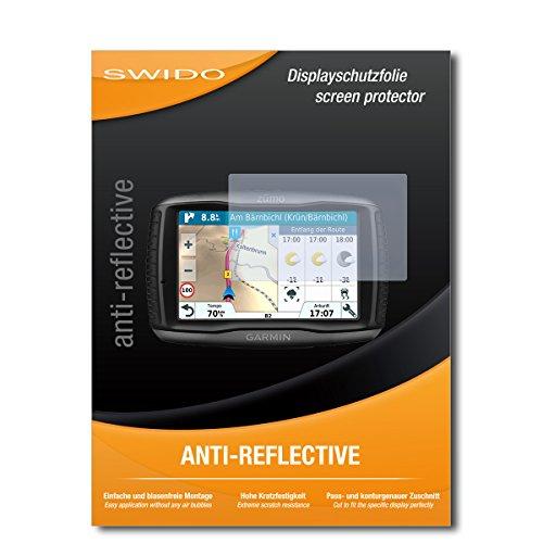 SWIDO Schutzfolie für Garmin zumo 595LM [2 Stück] Anti-Reflex MATT Entspiegelnd, Hoher Härtegrad, Schutz vor Kratzer/Displayschutz, Displayschutzfolie, Panzerglas-Folie