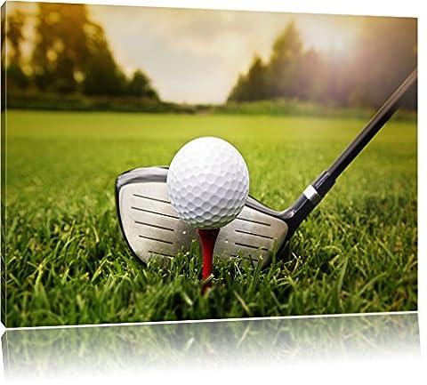 Golf Tee, format: 120x80 sur toile, XXL