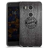 DeinDesign Google Nexus 5X Silikon Hülle Case Schutzhülle Metall Look FC Bayern München Fanartikel Merchandise