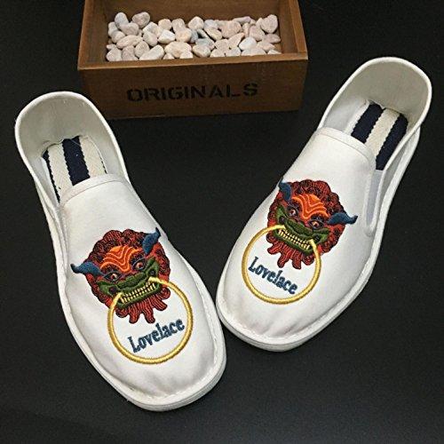 LvYuan Unisex Chinesische traditionelle Tuchschuhe / beiläufige Retro Atmen Sie gestickte Schuhe / Kung Fu Schuhe / Kampfkünste / Beleg-auf Schuhe 1#