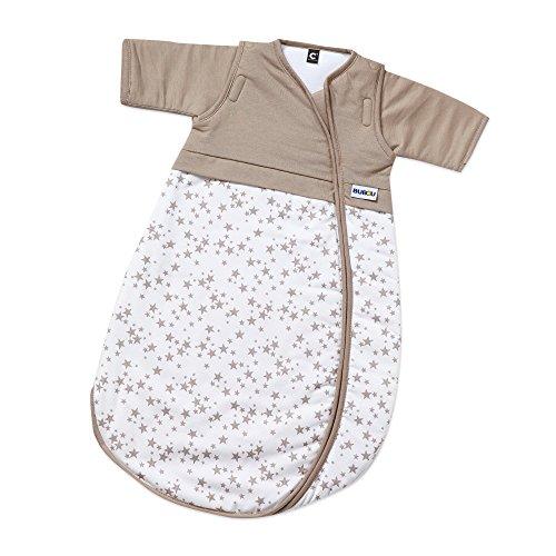 Gesslein 771159 Schlafsack Bubou, Größe 70, Farb-Nr. 159 creme-weiß mit braunen Sternen