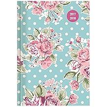 Collegetimer Pocket Roses 2017/2018 - Schülerkalender A6 - Day By Day - 352 Seiten