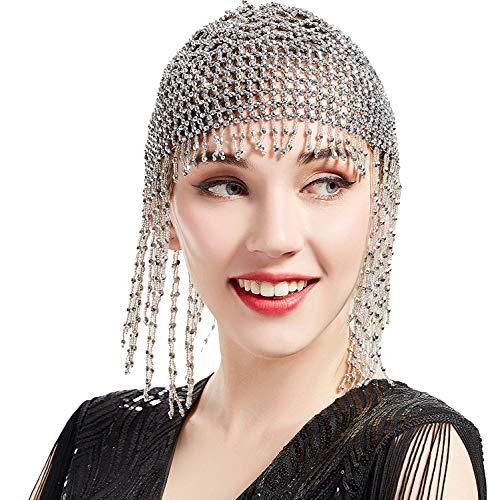 re Frauen Gatsby Haarkette exotische Cleopatra Kostümzubehör 20er Jahre Flapper blinkendes Stirnband ()