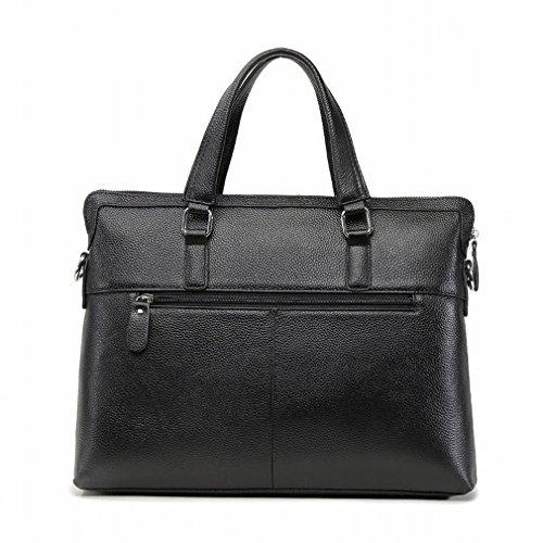 Preisvergleich Produktbild HTB Art und Weisemannbeutelgeschäft Aktenkofferhandtasche Kann Schulterdiagonalpaket Sein,Schwarz