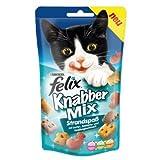 8 x Felix Snack KnabberMix Strandspaß 60g, Katzenfutter, Knabbermix