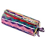 "Premier papeterie Explorer""colourful Hearts"" 3 Poche Roll Up crayon Case-p Ethnic Zig Zag Colourful"