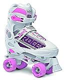 Roces Quaddy Patin à roulettes réglable Fille, Blanc/Violet