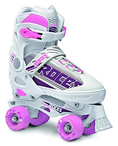 Roces quaddy Rollschuh verstellbar Mädchen, weiß/violett