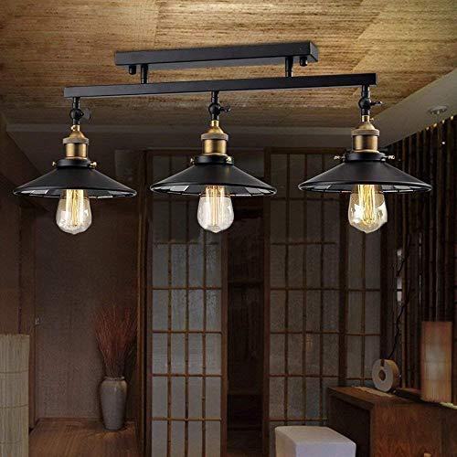 W-LI Industrielle Vintage Semi Flush Mount Deckenleuchte Lampe Leuchte Insel Kronleuchter Leuchte für Wohnküche Esszimmer Esszimmer Dekorative Leuchte 3 Lichter -