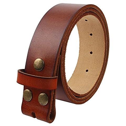Senmi BZ020 Men's one piece Full Grain 100% Genuine Leather