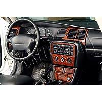 MERIC Decoración de Salpicadero (CD-WU00444) Versión 3D exclusiva, específicamente para el vehículo, 20 Pieza, Color: Burl